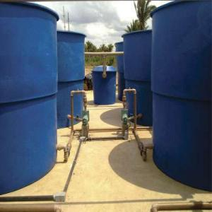 Estação de tratamento de água e esgoto