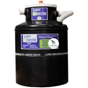 Sistema compacto de tratamento de esgoto